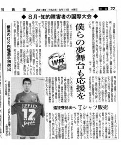 神奈川新聞(2014.6.11)